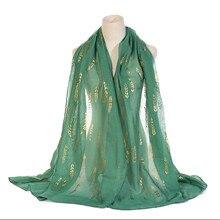 Стиль, хлопок, лен, бронза, ива, цветок, женский шарф, высокое качество, мусульманский головной убор