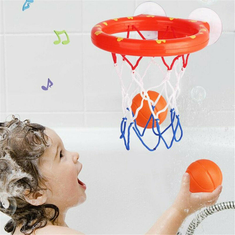 Image 4 - Safe Original Kids Funny Bath Toys Plastic Bathtub Shooting Game Toy Set Basketball Suctions Cups Mini With Hoop Balls Children-in Bath Toy from Toys & Hobbies