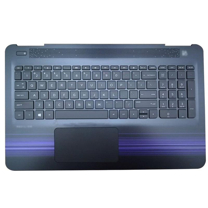 95%NEW Laptop Palmrest Upper Case US Keyboard Touchpad For HP Pavilion 15-AU 15-AW 15-AL TPN-Q172 TPN-Q175 856040-001 EAG3400409