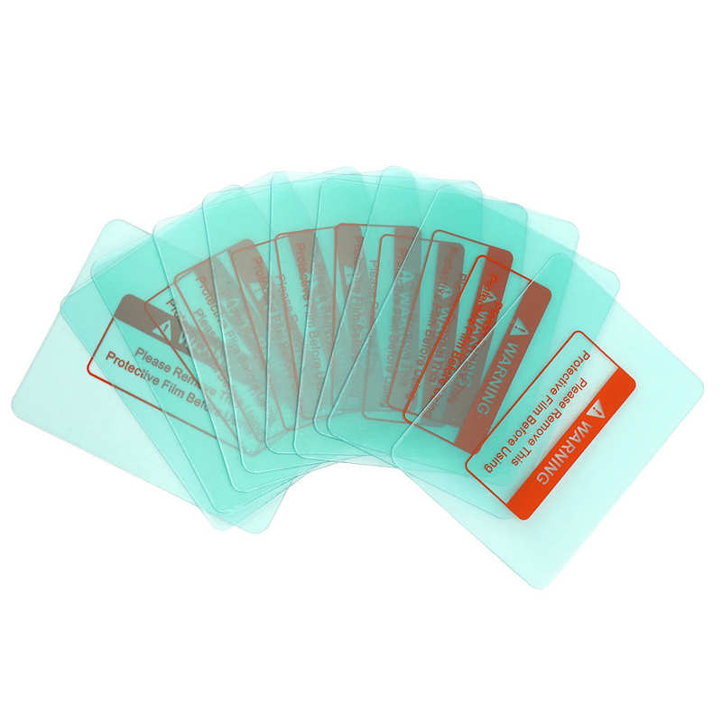 10 pièces casque de soudage couvercle dobjectif plaque de protection transparente coin rond masque de soudage verre 116x90mm