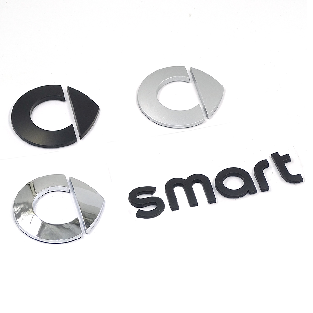 FOR <font><b>Smart</b></font> Logo Rear Trunk car emblem Badge stickers For <font><b>Smart</b></font> <font><b>fortwo</b></font> <font><b>451</b></font> FORSPEED FORFOUR 453 ROADSTER FORSTARS Auto <font><b>accessories</b></font> image