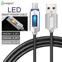 LED Micro USB Kabel 2.4A Schnelle Lade Für Samsung Xiaomi Android Handy Micro usb datenkabel 1 M/2 m/3 M USB Ladegerät Kabel