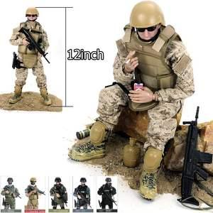 """Image 5 - 12 """"1/6 مجسم لعبة الجندي الطبي نموذج لعبة زي عسكري بدلة عسكرية قتالية نموذج جندي لعب مجموعة في الهواء الطلق للهدايا مع Ret"""