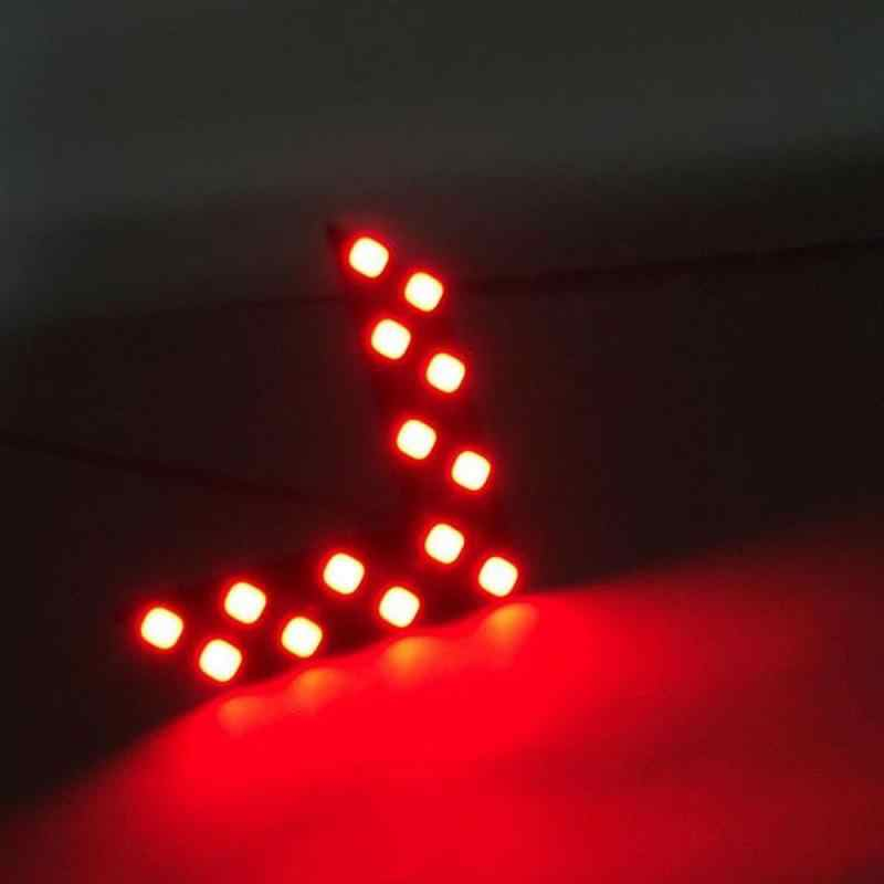 1 Pasang 14SMD Panah Panel LED untuk Mobil Kaca Spion Cermin Indikator Sinyal Belok Lampu LED Mobil Kaca Spion Cermin Cahaya accessorie