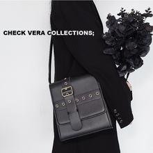 Однотонные женские сумки с ремешком и пряжкой через плечо модная