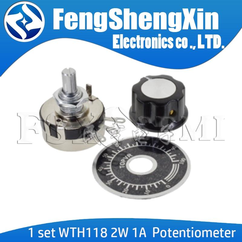 1 conjunto wth118 kit diy peças 2w 1a potenciômetro 1k 2.2k 4.7k 10k 22k 47k 100k 470k 1m MF-A03