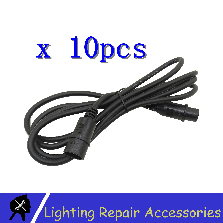 10pcs/lots 1.2m 1.5m 3pin DMX Signal Line Connection Shielded XLR Male To Female For Led Par Light Moving Head DMX Cable XLR