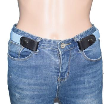 Niewidoczny elastyczny pasek do dżinsów bez wybrzuszenia bezproblemowy klamra dla dorosłych dzieci elastyczny pasek Unisex niewidoczne akcesoria do paska tanie i dobre opinie Na co dzień Adult Dzianiny CN (pochodzenie) 1 5cm Stałe Elastic Belt 1 7cm