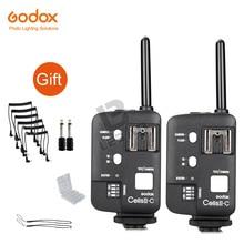 2x Godox Cellen Ii Wireless Speedlite Flash Transceiver Trigger Hoge Snelheid Voor Canon Eos Camera S