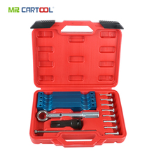 MR CARTOOL 15pcs Car Injector Removal Puller Timing Tool Set Camshaft Timing Alignment Tools For Mercedes Benz M157 M276 M278