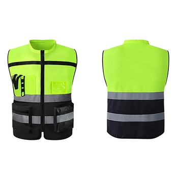 2019 High Brightness Reflective Vest High Visibility Multi Pocket Safety Gear Tank Top Construction Site Running Cycling tanie i dobre opinie Balight