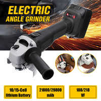 21800/29800mah 2PCS 10/15 Cell lithium Battery 188VF/218VF Electric Angle Grinder Cordless Polisher Machine Cutting Tool Set