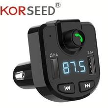 Bluetooth 5.0 Fm-zender Handsfree Draadloze Auto MP3 Speler Telefoon Usb Lading Auto Charger Tf U Disk Auto Accessoires