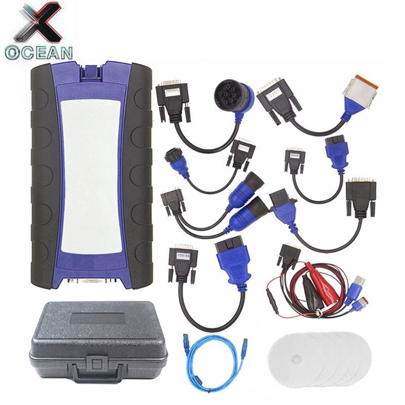 125032 USB Link Truck Diagnose with All Installers 2 USB Bluetooth Optional Diesel Truck Heavy Duty scanner Better Than DPA5