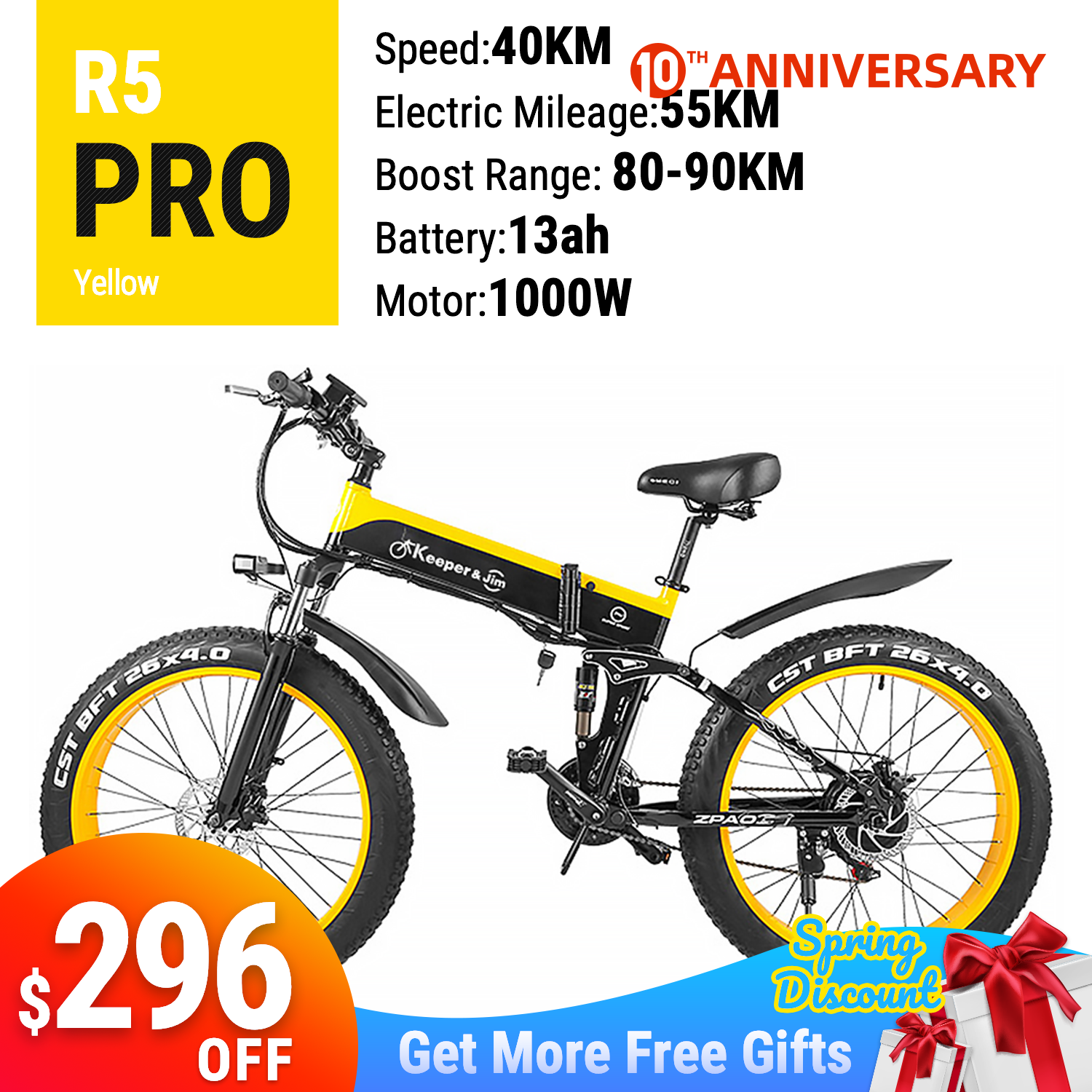 "2020 New Arrival 48V 12AH 1000W Folding Electric Bicycle With 26""*4.0 Fat Tyre e bike"
