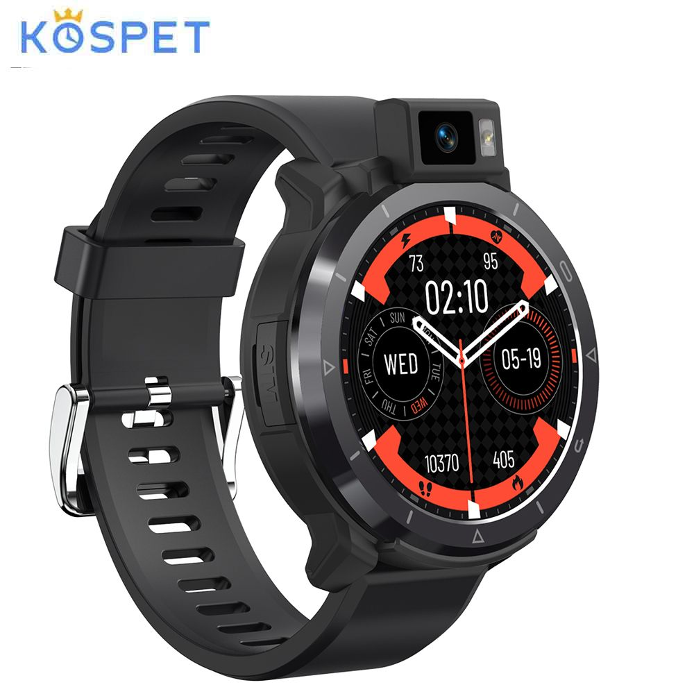 KOSPET двойной режим с двумя ЧИПАМИ 4G + 64G Смарт часы Восьмиядерный 4G-LTE часы телефон 2260 мА/ч, Батарея GPS + Beidou Android 10,7 SpO2 монитор