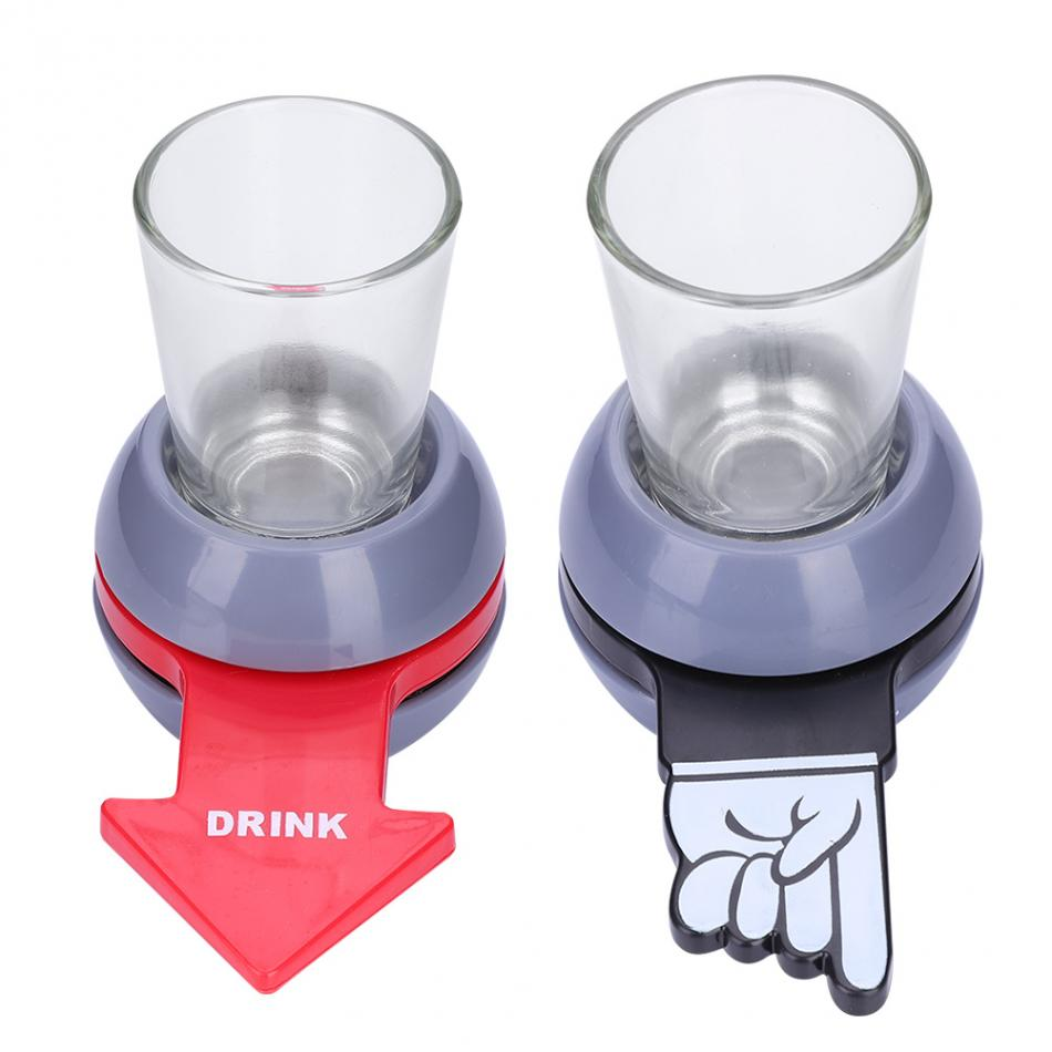 Funny Shot Spinner Party Game Rotatable Arrow Beer Wine Glass Cup Kit Spin The Shot Drinking Game Gifts Entertainment 2019