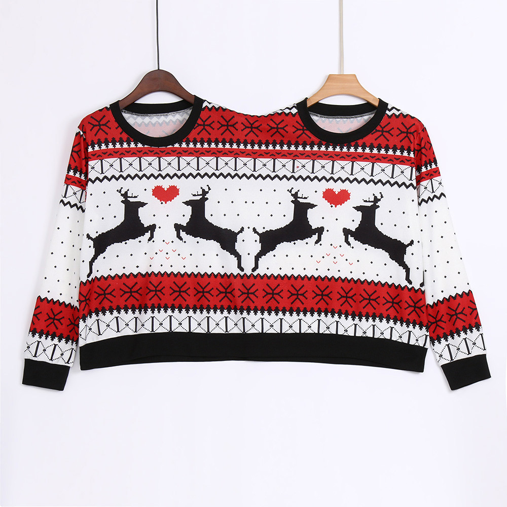 Winter Couples Sweater pullover Two Person Ugly Sweater Couples Pullover Novelty Christmas sweater for women Pull Femme 3XL