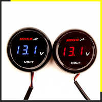 Motorcycle Koso Voltmeter Volt meter Voltage Universal Round Mini LED Digital For Yamaha XMAX NMAX Y15 ZR LC135 Instruments