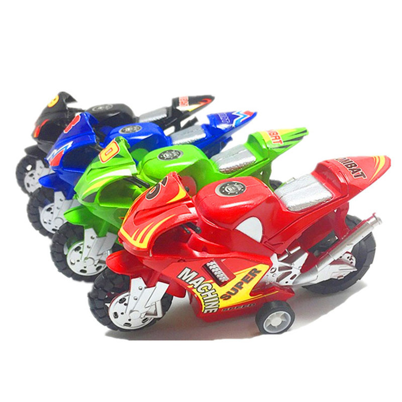 1Pcs Fashion Classic Children Pull Back Inertial Motorcycle Toys Funny Plastic Motor Bike Miniature Model Puzzle Toy Vehicles
