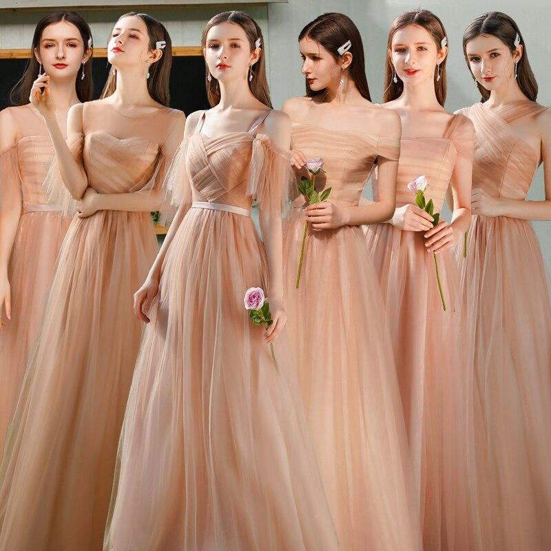 Wedding Guest Elegant Dress Women For Wedding Party Junior Bridesmaid Dress Tulle Vintage Dress Prom Azul Royal Vestidos A-Line