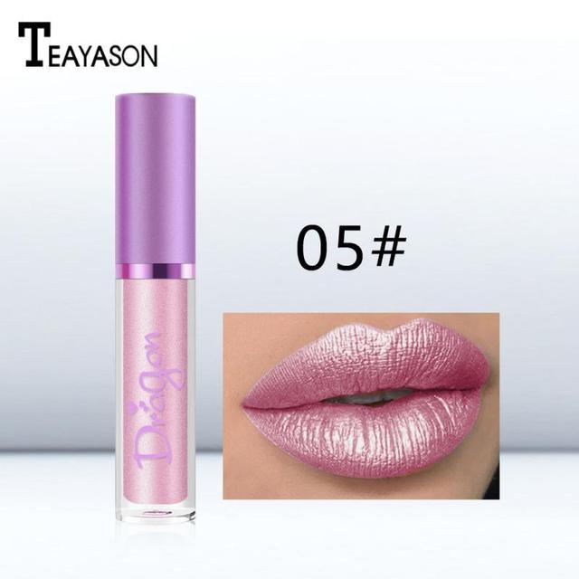 TEAYASON Lip Gloss Lipstick Makeup Maquiagem Flash Lip Glaze Pen Diamond Shiny Bright 6 Color Pearlescent Smooth Cosmetics TSLM2 1
