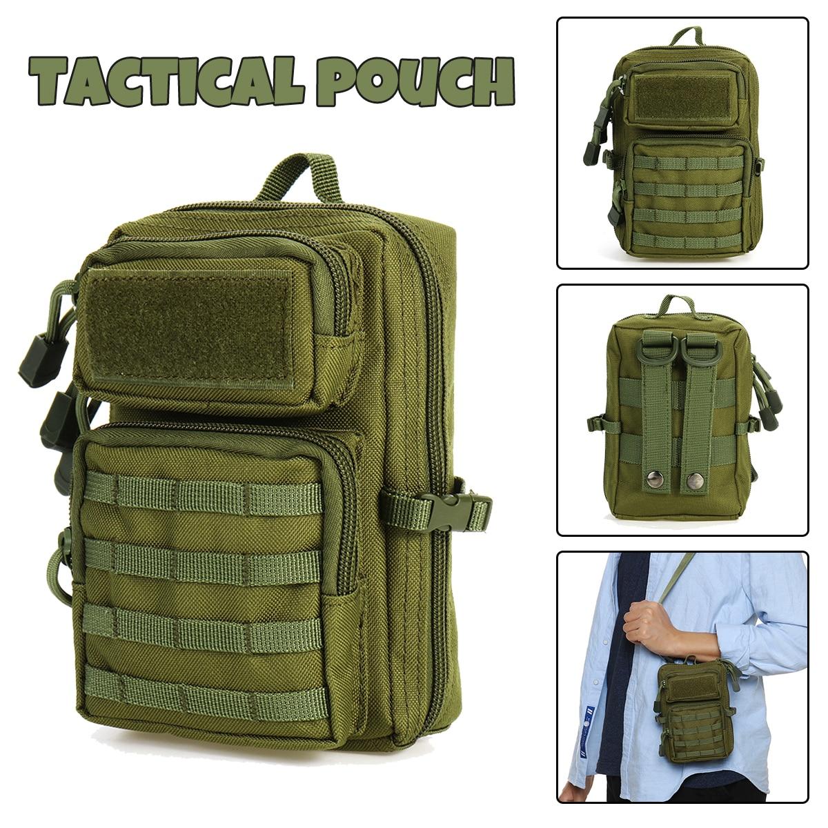 Universal Tactical Pouch Bag Holster Military Molle Hip Waist Belt Bag Zipper Wallet Pouch Purse Phone Case Camping Hiking Bags