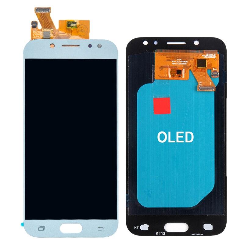 Pour Samsung Galaxy AMOLED LCD J5 2017 J530 SM-J530F J530M LCD écran tactile numériseur assemblée avec réglage de la luminosité