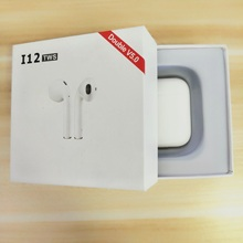 i12 TWS  smart bluetooth earphone 6D super bass with touch earbuds pk i7s tws i10