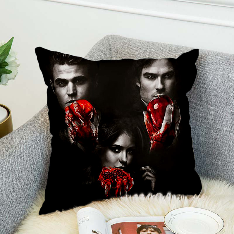 the Vampire Diaries Pillow Case Polyester Decorative Pillowcases Throw Pillow Cover style 6