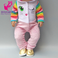 for 43cm  doll baby dolls clothes coat with hooded hat fit for 18 inch girl doll jacket sets Baby girl Christmas gift