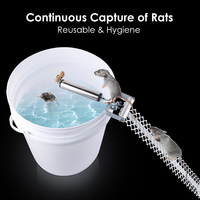 Auto Mouse Traps Stainless Steel Rolling Stick Rat Catcher Mousetrap Household Pest Mice Control Rodent Bait Killer