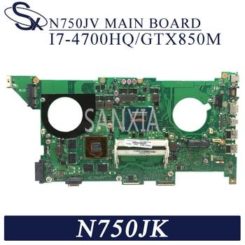 Placa base de ordenador portátil KEFU N750JV para ASUS N750JK placa base original I7-4700HQ GTX850M