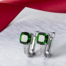 Fashion Female Pendientes Earrings Silver color Green Dazzling CZ Zircon Heart Arrow Stud Earrings for Women Oorbellen