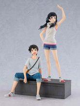 18cm twoje imię Kawaii Tachibana Taki i Miyamizu Mitsuha figurka kolekcja pcv zabawki modele na prezent na boże narodzenie