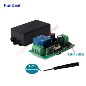 Image 3 - FunDeal 433 Mhz universel sans fil télécommande commutateur AC 110V 220V Code dapprentissage 1CH RF relais récepteur lampe contrôleur de lumière