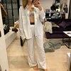 Mozuleva Women's Summer Two-piece Home Suit for Spring / Autumn Thin Long-sleeved Cotton Pants Pajamas Women Autumn Cotton Suit 1