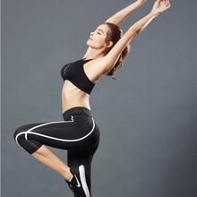 Спортивные укороченные штаны для йоги, летние обтягивающие штаны для фитнеса и бега, впитывающие пот женские штаны