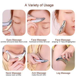 Image 5 - Face Neck Guasha Massager Face Wrinkle Removal Device Body Slimming Massager Electirc Facial Skin Beauty Care Scraping Tool