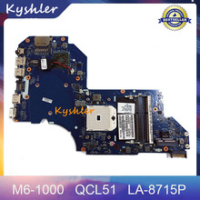 687227-501Mainboard For HP Pavilion M6 M6-1000 Laptop Motherboard QCL51 LA-8715P 2LMFG