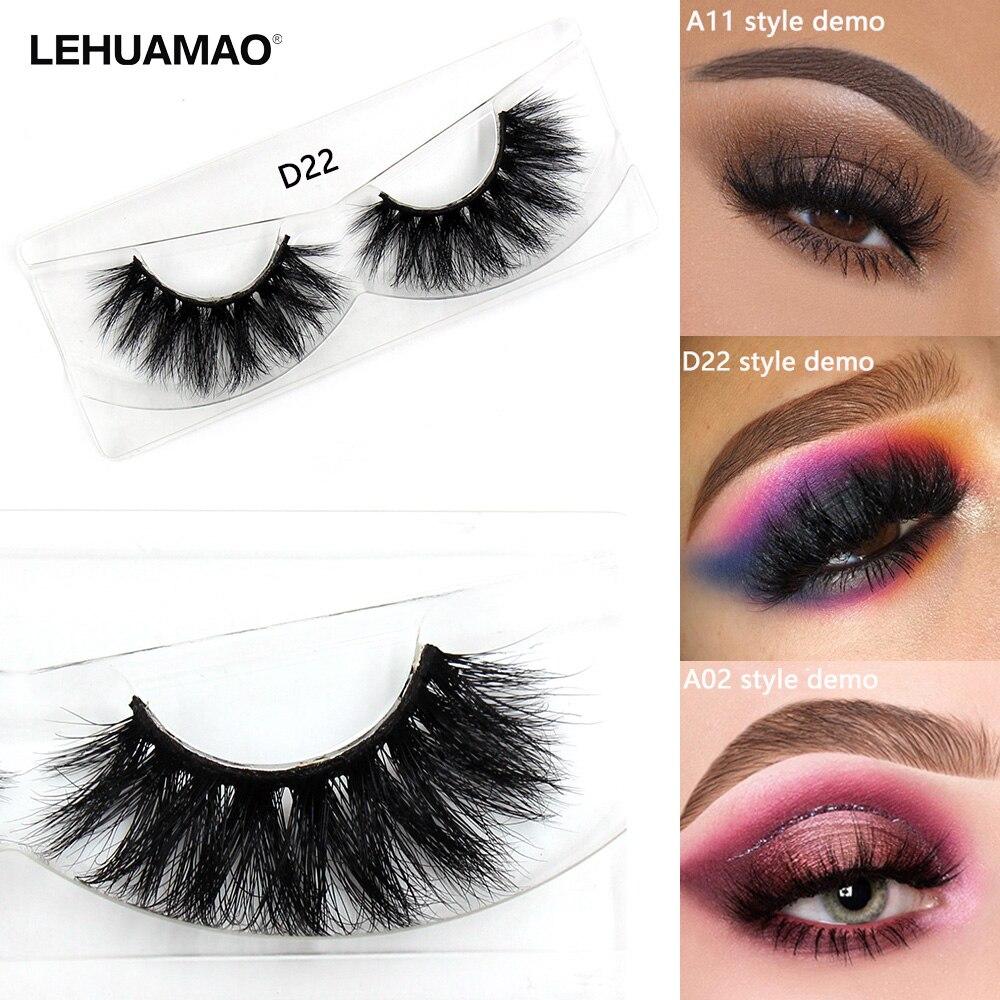 LEHUAMAO Mink Eyelashes Natural Volume False Eyelashes Long Crisscross Eyelash Cruelty Free Makeup Thick Full Strip Mink Lashes