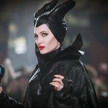 Взрослый роскошный костюм малефисенты злой королевы Косплей наряд дамы маскарадный костюм женщин Хэллоуин партии Косплей Костюм