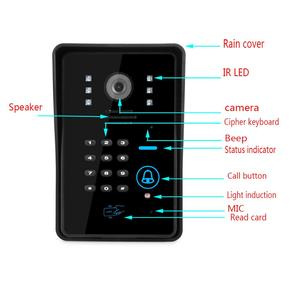 Image 4 - SmartYIBA 7 Inch RFID Access Door Phone Intercom kits Password Code Keypad IR Camera Video Door Bell For Home Security System