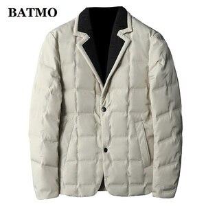 BATMO зимняя куртка на 90% белом утином пуху, мужские костюмы, плюс размер, 198025, 2020