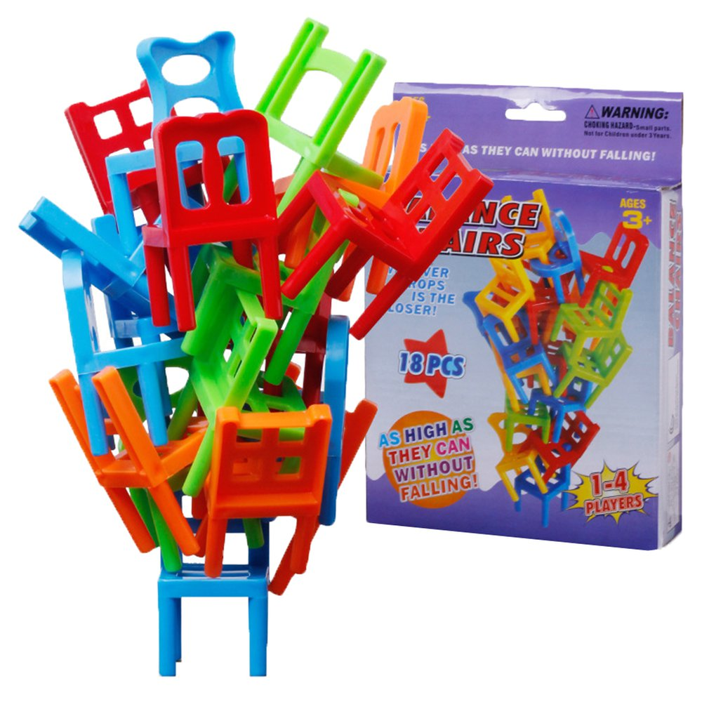 Children\'S Folding Chair Diy Balancing Chair Stool Folding Music Parents And Children Gathering Puzzle Desktop Game Toys