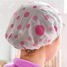 Мультяшные животные водонепроницаемый Душ для ванной шапочка для волос Resuable кружева эластичная лента фен вапоризатор для волос