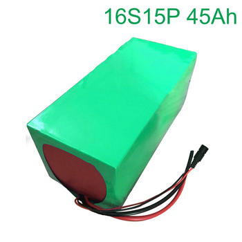 60V 45Ah 16S15P 18650 Li-ion Battery electric two Three wheeled motorcycle bicycle  ebike       320*170*140mm