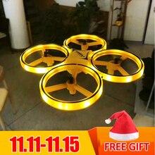 Rc zangão ufo brinquedos assista gesto voando bola helicóptero mão infravermelho eletrônico quadcopter indução interativa dron crianças brinquedos