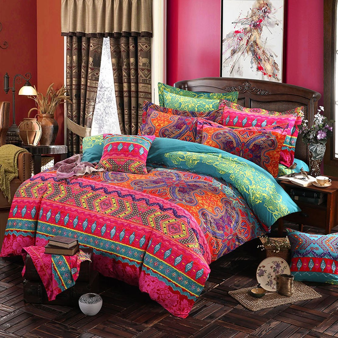 Duvet-Cover-Sets Bohemian-Style 1/2-Pillowcases Fashion 100%Polyester Us/eu/au-size title=