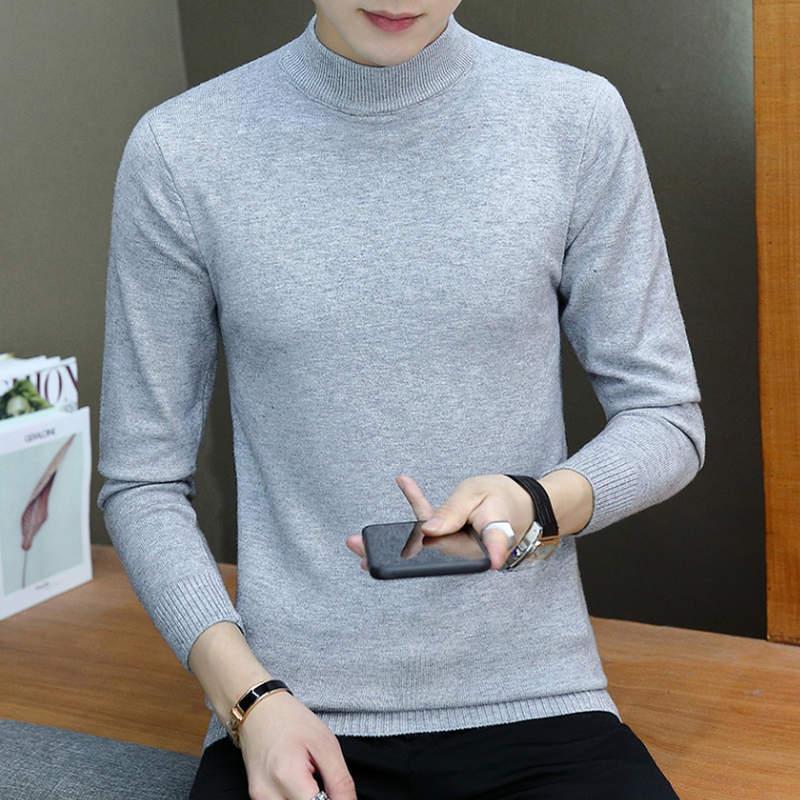 Winter High Neck Thick Warm Sweater Men Turtleneck Brand Mens Sweaters Slim Fit Pullover Men Knitwear Male